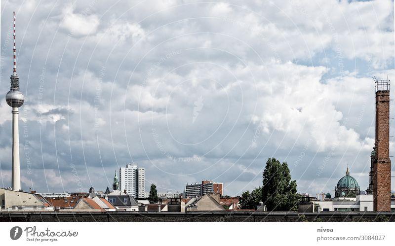 Skyline Berlin Ferien & Urlaub & Reisen Tourismus Ferne Freiheit Sightseeing Städtereise Sommer Politik & Staat Umwelt Natur Wolken Klima Hauptstadt