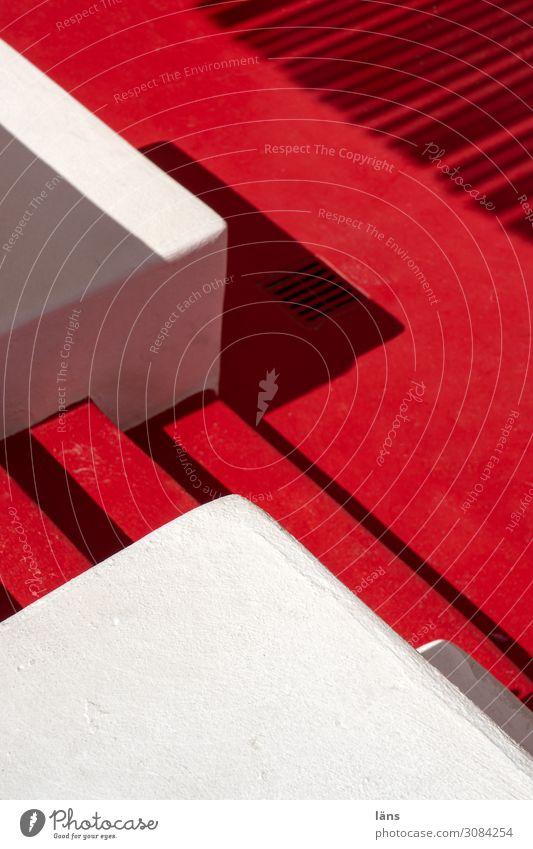 roter Teppich Stil Ferien & Urlaub & Reisen Griechenland Mauer Wand Treppe Wege & Pfade einfach elegant weiß einzigartig Farbfoto Außenaufnahme