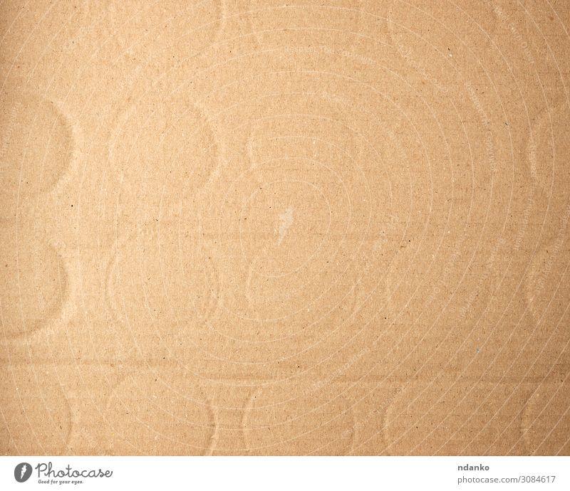 brauner Karton aus der Flasche, Vollrahmen Stil Design Dekoration & Verzierung Handwerk Papier alt retro gelb Hintergrund blanko kreisen leer Rahmen Kraft