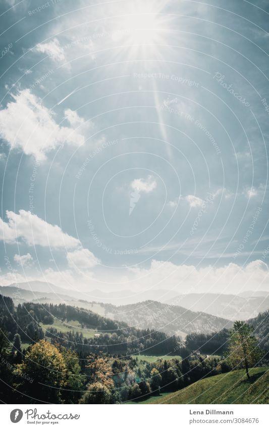 201809 Berg #8 Natur Landschaft Himmel Wolken Sonne Sonnenlicht Frühling Sommer Herbst Schönes Wetter Wiese Wald Alpen Berge u. Gebirge Oberstaufen Kalzhofen