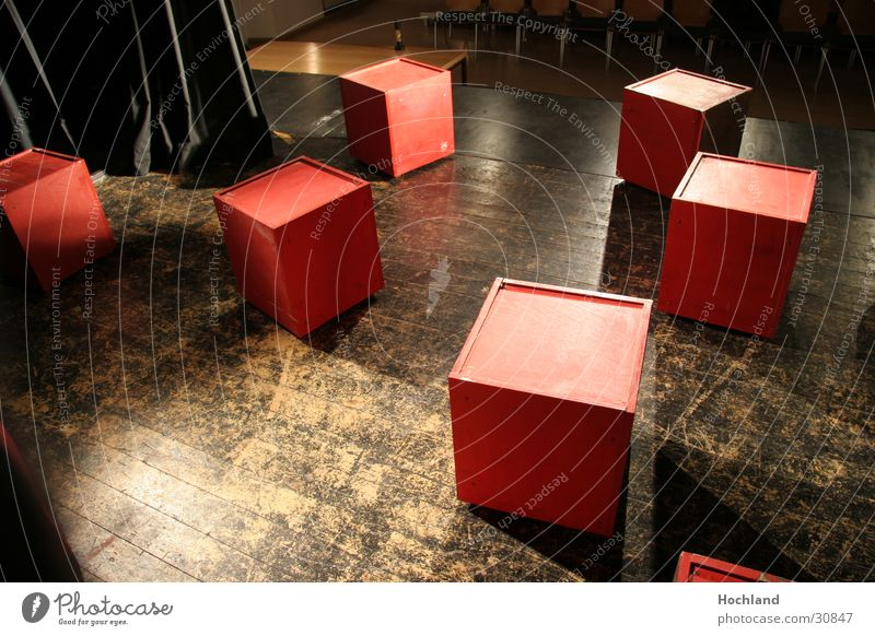 Bühnenbau 1 Musik Konzert Bühne Würfel verteilt