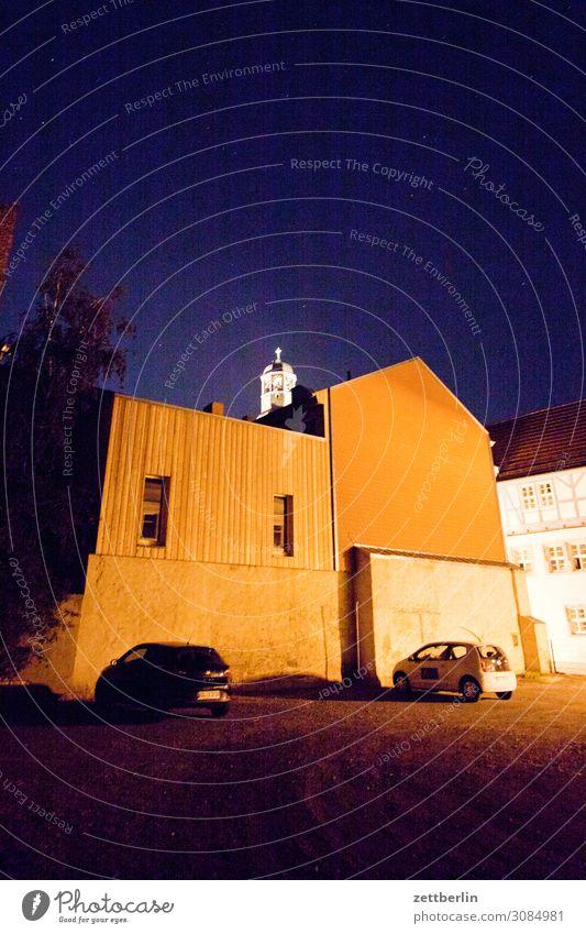 Nachts in Aschersleben Abend aschersleben Beleuchtung dunkel geheimnisvoll historisch Licht Mittelalter Sachsen-Anhalt Stadt Tatort Parkplatz Fassade