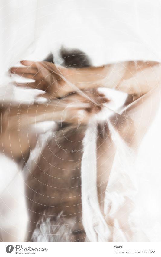 Neiiiiin Mensch maskulin Körper Oberkörper 1 45-60 Jahre Erwachsene dunkel gruselig kalt nackt braun Müdigkeit Enttäuschung Einsamkeit Hemmung Angst Entsetzen