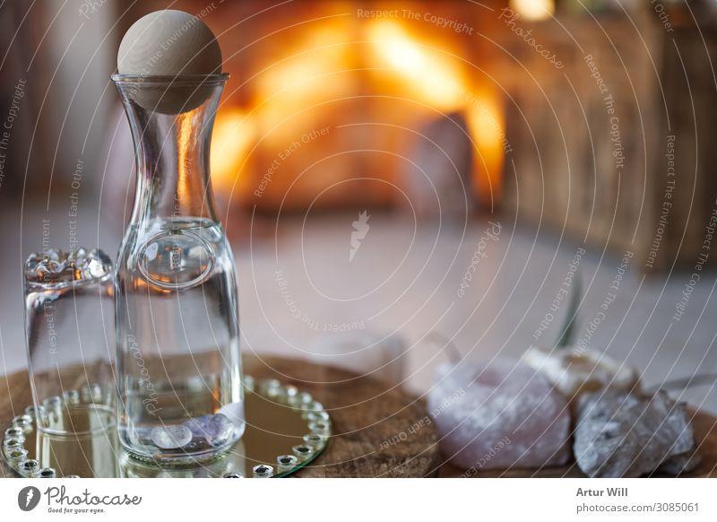 Durstig Getränk Trinkwasser Flasche Glas Dekoration & Verzierung Holz trinken frisch Gesundheit nass Leben Design Farbfoto Innenaufnahme Nahaufnahme
