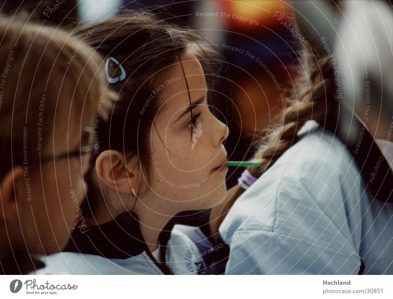 Kinder Mädchen Zukunft Spanien Zopf Zuckerstange