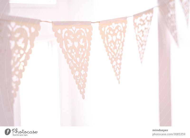 Rosa Girlande Frühstück Stil Mädchen Party Papier Dekoration & Verzierung Spitze Feste & Feiern verschönern Fahne Lichtblick glänzend leuchten ästhetisch