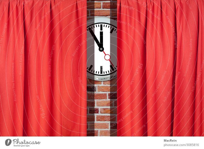 Theatervorhang Kunst Bühne Kultur Veranstaltung Show Konzert Oper Opernhaus Sänger Zeichen rot Pünktlichkeit Theaterschauspiel Vorhang Uhr Farbfoto
