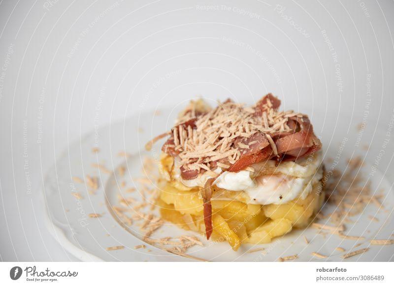 Spanisch Tapa, Ernährung Mittagessen Abendessen Diät Tisch Restaurant Kultur Tradition Mahlzeit Lebensmittel Kartoffeln Fladenbrot Omelett Essen zubereiten