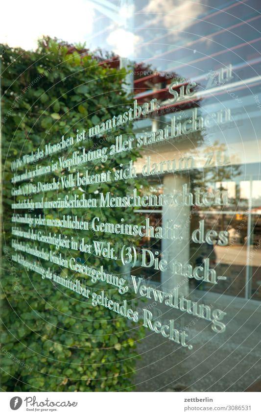 Die Würde des Menschen Berlin Deutscher Bundestag Deutschland Hauptstadt Bundeskanzler Amt Parlament Regierung Regierungssitz Regierungspalast Spreebogen