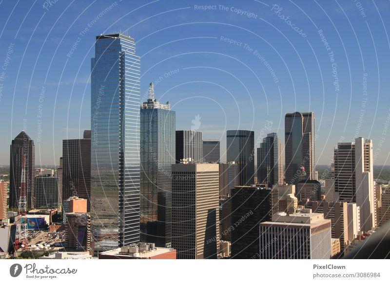 Skyline Dallas Lifestyle Ferien & Urlaub & Reisen Tourismus Ferne Sightseeing Städtereise Sommer Häusliches Leben Wolkenloser Himmel Stadt Stadtzentrum