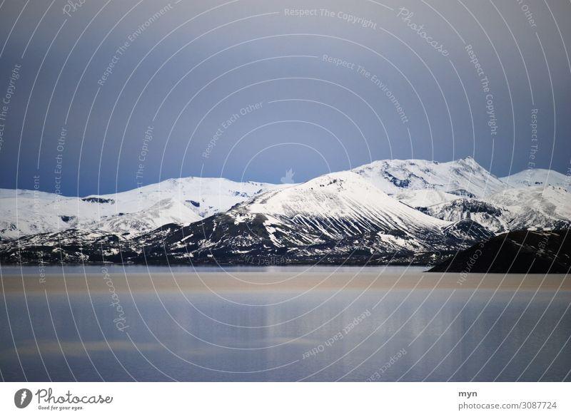 Eisige Stille Umwelt Natur Landschaft Wasser Himmel Nachthimmel Sonnenaufgang Sonnenuntergang Winter Klima Klimawandel Wetter schlechtes Wetter Frost Schnee