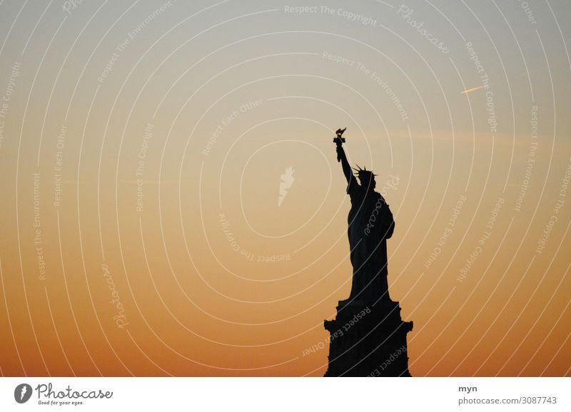 Freiheitsstatue II Ferien & Urlaub & Reisen Stadt Ferne Tourismus USA Fluss Sehenswürdigkeit Hoffnung Skyline Güterverkehr & Logistik Wahrzeichen Städtereise