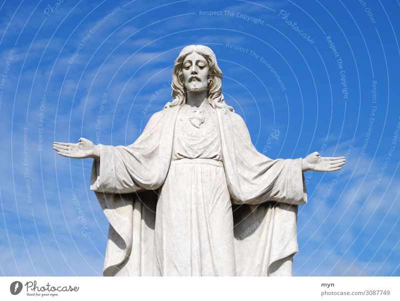 Jesus Mensch Mann Erwachsene Religion & Glaube Tod maskulin Vergänglichkeit Trauer Frieden Verfall Statue Skulptur Christentum Kunstwerk Friedhof