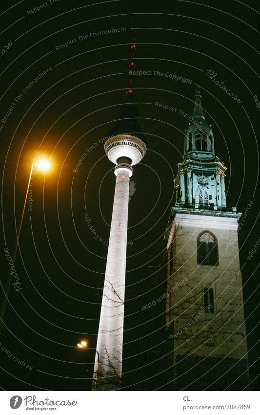 laterne, turm, kirche Städtereise Berlin Hauptstadt Stadtzentrum Kirche Turm Bauwerk Gebäude Architektur Sehenswürdigkeit Wahrzeichen Berliner Fernsehturm