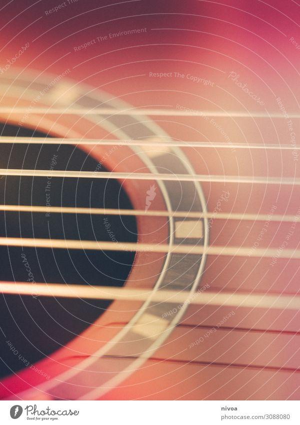 Saiten einer Gitarre Freizeit & Hobby Spielen Veranstaltung Musik Musiker Kultur Punk Rockabilly Konzert Sänger Band Saiteninstrumente Holz Linie berühren