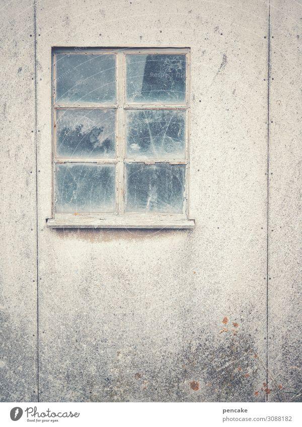 blind vision Fischerdorf Hafenstadt Menschenleer Hütte Fenster authentisch einfach retro Stadt sparsam stagnierend Verfall Vergangenheit Vergänglichkeit