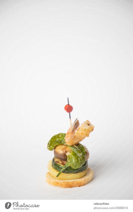 Spanisch Tapa, Fleisch Brot Frühstück Abendessen Tradition Pilz Lebensmittel Spanien Amuse-Gueule Snack Oliven Schinken Feinschmecker Paprika trinken typisch
