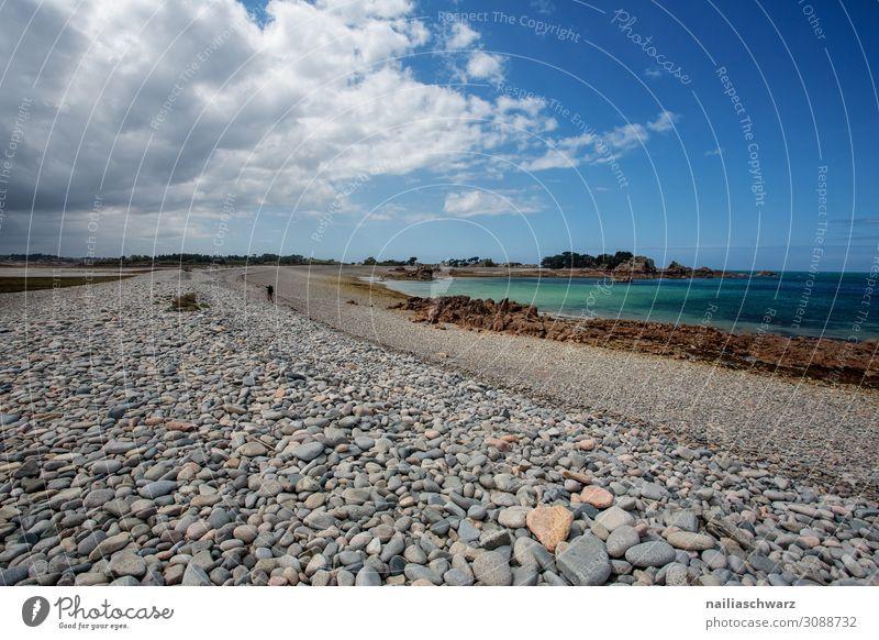 Rosa Granit Küste Lifestyle Ferien & Urlaub & Reisen Tourismus Ausflug Ferne Sommer Sommerurlaub Strand Meer Umwelt Landschaft Sand Luft Wasser Rose Bucht