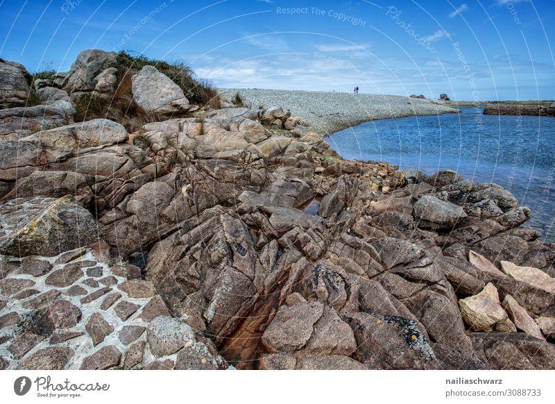 Rosa Granitküste Ferien & Urlaub & Reisen Tourismus Abenteuer Ferne Sommer Sommerurlaub Strand Umwelt Landschaft Felsen Küste Bucht Meer Atlantik