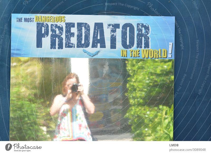 Wir sind das gefählichste (Raub-)Tier auf dieser Welt! Frau Mensch Natur Erwachsene Umwelt feminin Umweltschutz Umweltverschmutzung Spiegelbild Selbstportrait