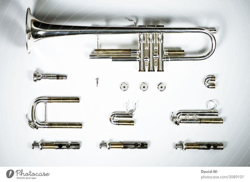 komplett zerlegt Stil Kunst Design Metall Musik elegant Kultur Jugendkultur Bildung Teile u. Stücke Museum Konzert silber Kunstwerk bauen Silber