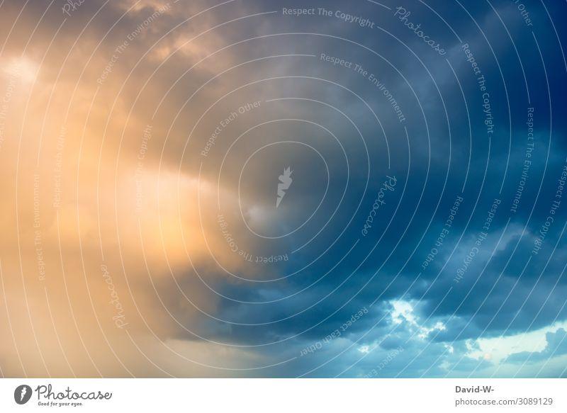 ein Wetterwechsel steht bevor Kunst Kunstwerk Gemälde Theaterschauspiel Umwelt Natur Himmel Wolken Gewitterwolken Sonne Sonnenaufgang Sonnenuntergang