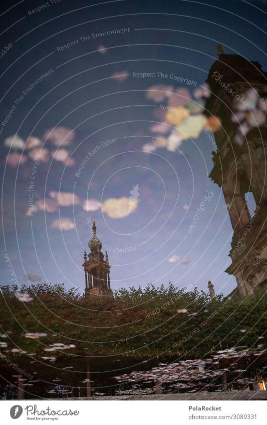 #A# Dresdner Spiegel Kunst Kunstwerk ästhetisch Reflexion & Spiegelung Dresden Hofkirche Dresden Sachsen Farbfoto mehrfarbig Außenaufnahme Detailaufnahme
