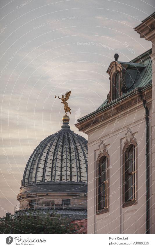 #A# und weiter geht's Kunst Kunstwerk ästhetisch Dresden Zitruspresse Kultur Kulturlandschaft Kulturdenkmal Kulturzentrum Altstadt Gebäude Engel Statue Farbfoto