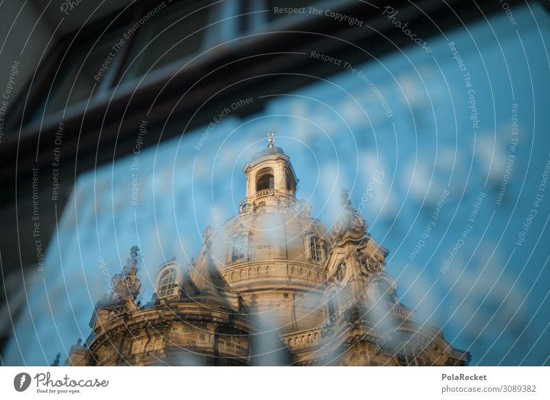 #A0# Alte Dame Kunst ästhetisch Dresden Sachsen Frauenkirche Reflexion & Spiegelung Kuppeldach Historische Bauten Altstadt Sehenswürdigkeit Tourismus Farbfoto
