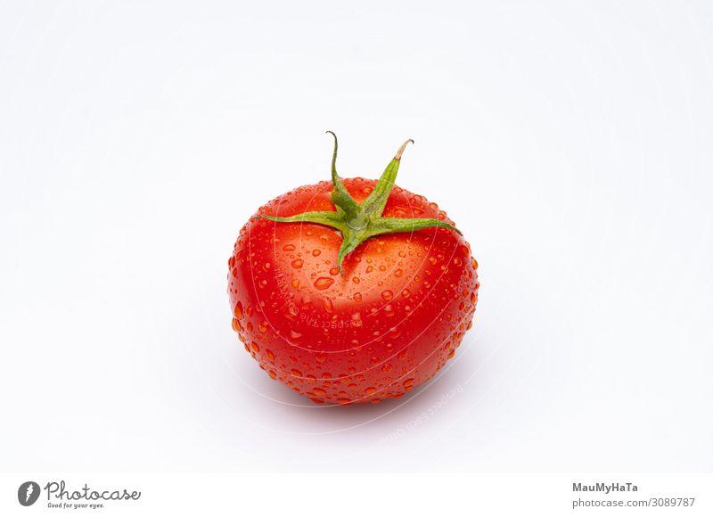 Tomate isoliert auf Wildwassertropfen Gemüse Ernährung Vegetarische Ernährung Diät Menschengruppe Natur Pflanze Wege & Pfade Tropfen frisch klein nass natürlich