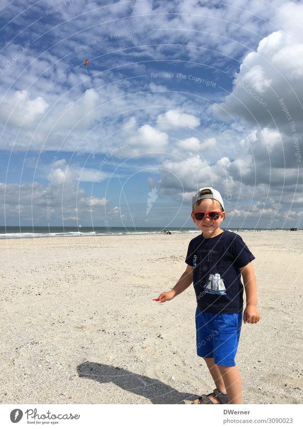 Drachen 3 Freizeit & Hobby Spielen Ferien & Urlaub & Reisen Tourismus Ausflug Sommer Sommerurlaub Strand Meer maskulin Kind 1 Mensch Umwelt Natur Landschaft