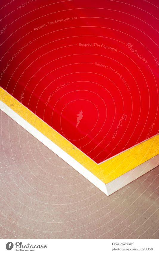 L Zeichen Schilder & Markierungen Linie Streifen gelb grau rot Design Farbe Grafik u. Illustration Grafische Darstellung graphisch Hintergrundbild Farbfoto
