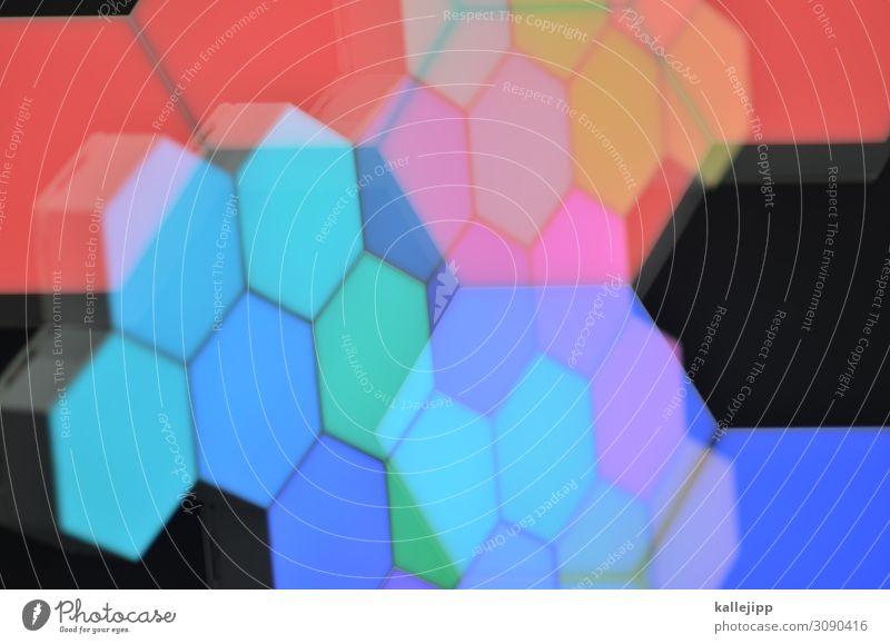 tetris Hintergrundbild Kunst leuchten modern Technik & Technologie Telekommunikation Zukunft Internet Informationstechnologie trendy Wissenschaften Vernetzung