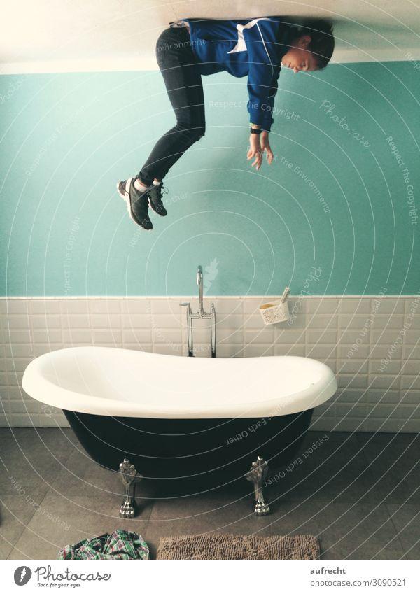 kopfüber | überkopf Kind Jugendliche Junge Frau Wasser Mädchen feminin Kunst außergewöhnlich Schwimmen & Baden fliegen oben 13-18 Jahre Kindheit verrückt