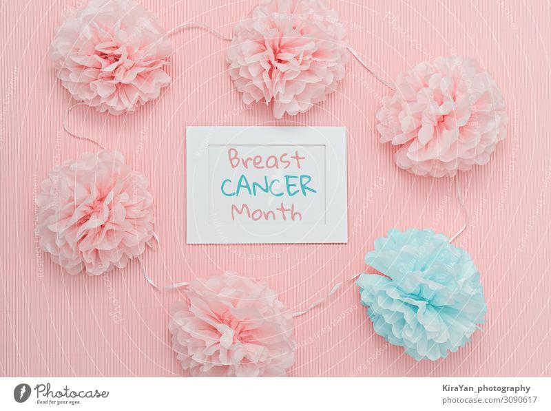 Konzept des Monats der Brustkrebsaufklärung elegant Gesundheitswesen Behandlung Krankheit Leben Frau Erwachsene Frauenbrust Blume Rose beobachten sprechen rosa