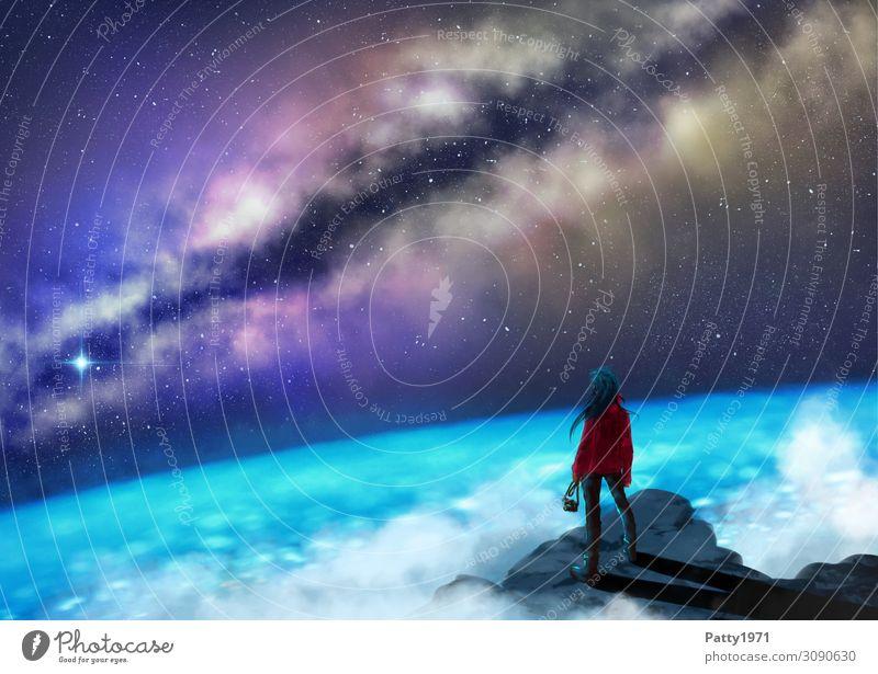 Stargazer Freizeit & Hobby Mensch Junge Frau Jugendliche 1 13-18 Jahre 18-30 Jahre Erwachsene 30-45 Jahre Natur Himmel Nachthimmel Stern Horizont