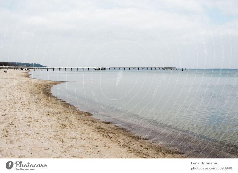 Timmendorferstrand #5 wasser ostsee klares wasser Timmendorfer Strand Norddeutschland Meer ostseeküste Ostseestrand sand ausblick horizont bewölkter himmel