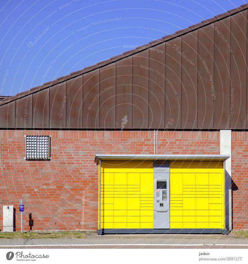 handelsplatz. kaufen Handel Güterverkehr & Logistik Dienstleistungsgewerbe Post Technik & Technologie Stadtrand Haus Marktplatz Gebäude Mauer Wand Tresor
