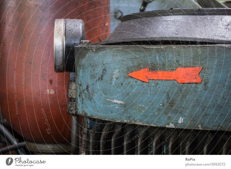 Natur alt Lifestyle Umwelt Arbeit & Erwerbstätigkeit Design Metall Energiewirtschaft Technik & Technologie Zukunft Industrie Klima Beruf Pfeil Fabrik