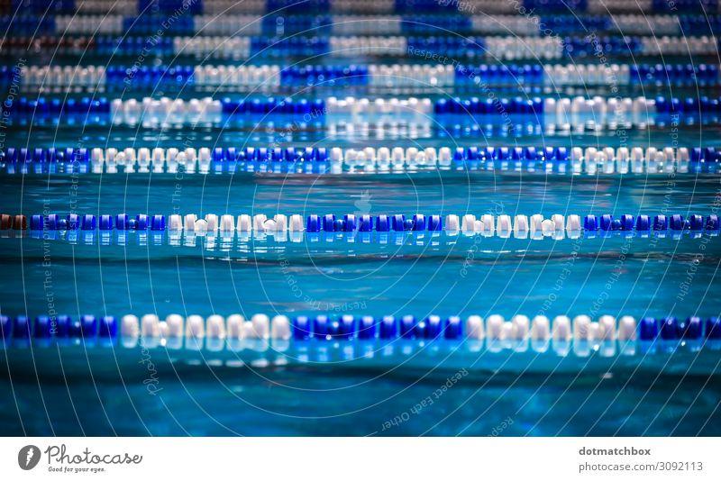 Liquid lines Freizeit & Hobby Ferien & Urlaub & Reisen Sport Wassersport Schwimmen & Baden Sportstätten Schwimmbad Sommer Schönes Wetter Menschenleer nass blau