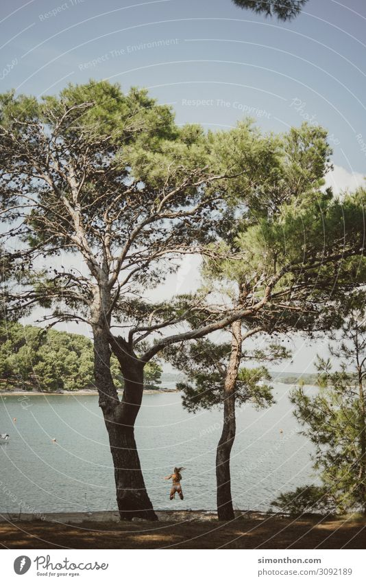 Urlaub Ferien & Urlaub & Reisen Natur Sommer Sonne Meer Freude Ferne Strand Leben Küste Tourismus Freiheit Erde Stimmung Ausflug träumen