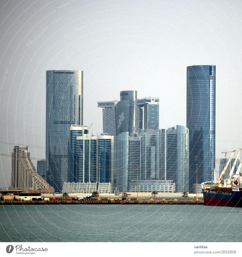 Skyline Abu Dhabi Hochhaus Vereinigte Arabische Emirate Bauboom Gebäude Tourismus Bankenkrise