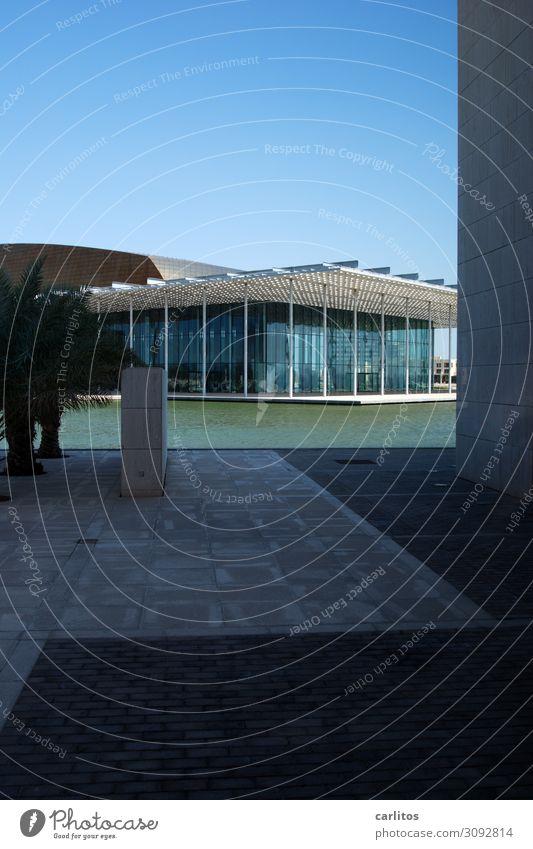 Nah am Wasser gebaut Haus Pavillon Moderne Architektur modern Fassade Reflexion & Spiegelung gerade