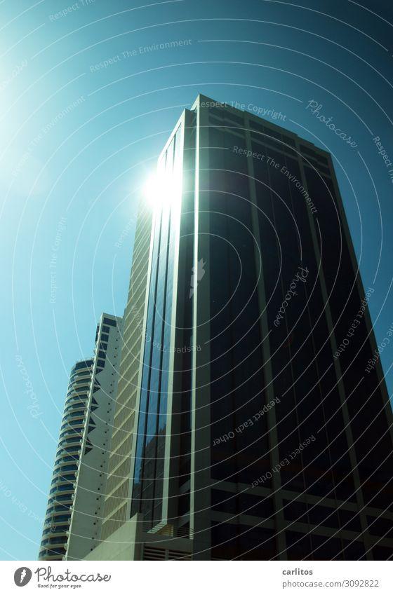 Als der Himmel noch grün war Dubai Vereinigte Arabische Emirate Hauptstadt Großstadt Hochhaus Architektur modern gigantisch Fassade Reflexion & Spiegelung