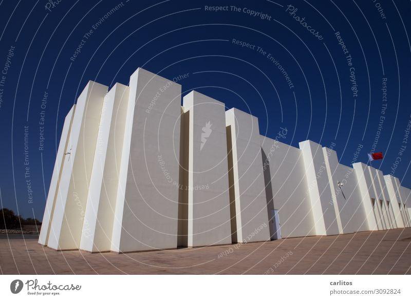 Bahrain Fort Museum Manama historisch Tourismus Naher und Mittlerer Osten parallel blau Linie