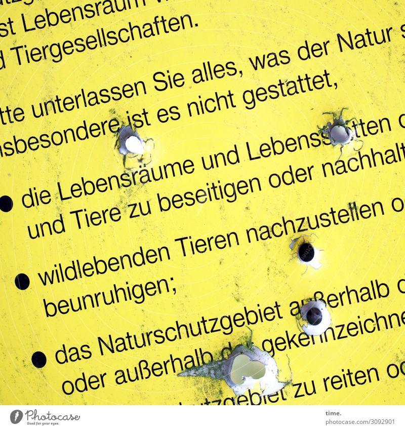 Visitenkarte Natur Tier Metall Schriftzeichen Schilder & Markierungen Hinweisschild Warnschild Angst Unglaube Wut Ärger gereizt Feindseligkeit Frustration