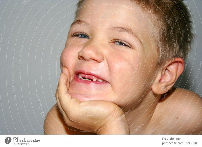 Grinseprinz Kind Mensch schön Gesicht Leben Senior lustig lachen Glück Junge maskulin Lächeln Kindheit Fröhlichkeit Lebensfreude Beginn