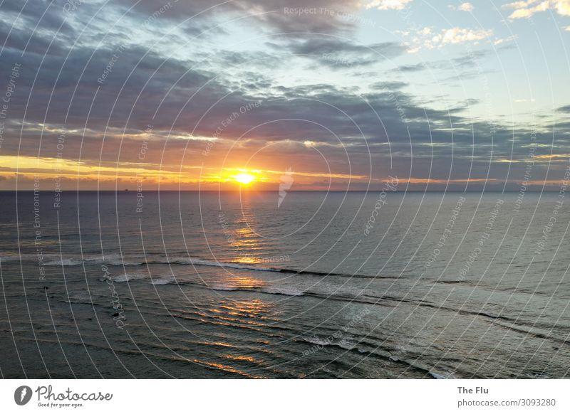 Noch ein kitschiger Sonnenuntergang Sinnesorgane Erholung ruhig Meditation Natur Urelemente Luft Wasser Himmel Wolken Sonnenaufgang Sonnenlicht Sommer