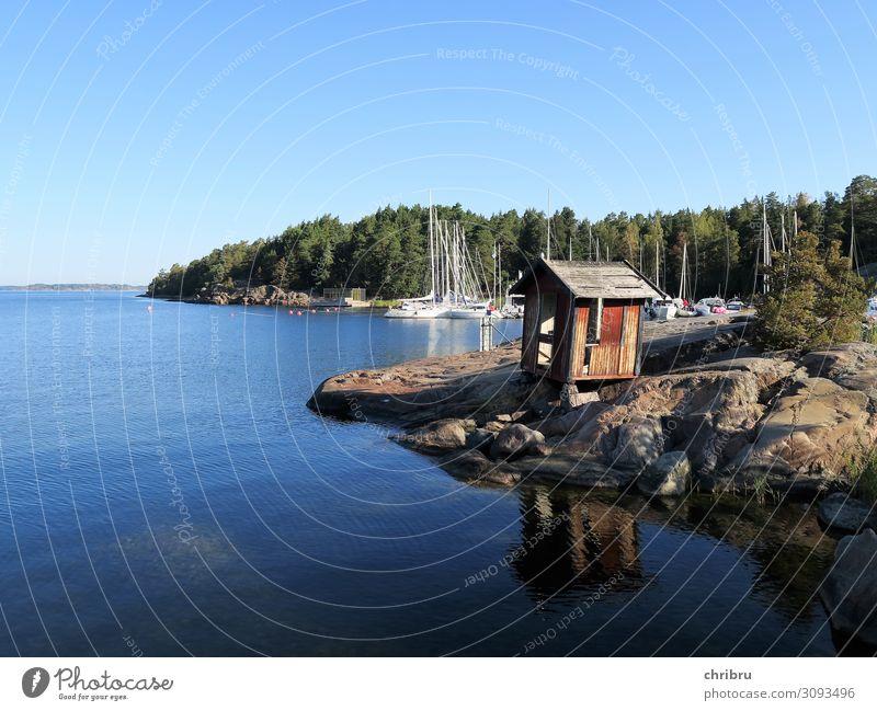 Idylle in den Schären Sommer Meer Insel Natur Landschaft Wasser Schönes Wetter Küste Bucht Ostsee Erholung blau ruhig Ferien & Urlaub & Reisen Frieden Schweden