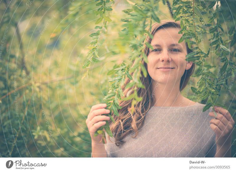 wertvoll   unsere Natur Mensch feminin Junge Frau Jugendliche Erwachsene Leben Gesicht Mund 1 Umwelt Frühling Sommer Klima Klimawandel Schönes Wetter Pflanze